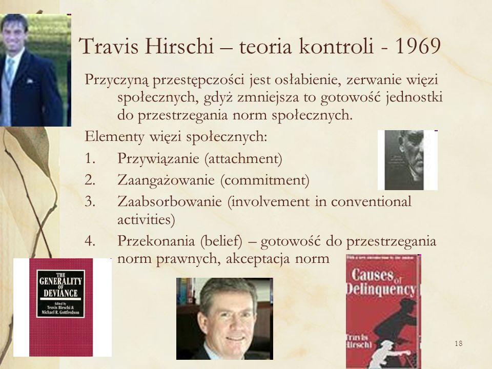 Travis Hirschi – teoria kontroli - 1969