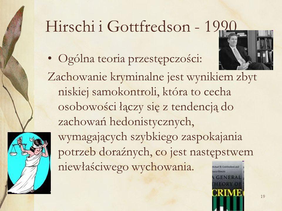 Hirschi i Gottfredson - 1990