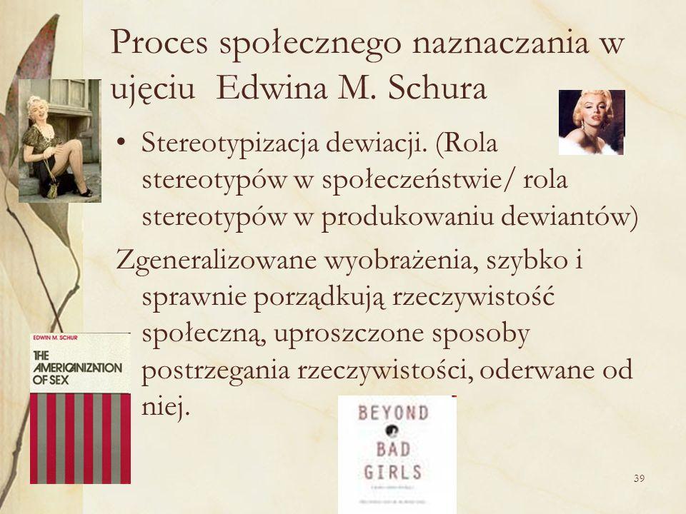 Proces społecznego naznaczania w ujęciu Edwina M. Schura