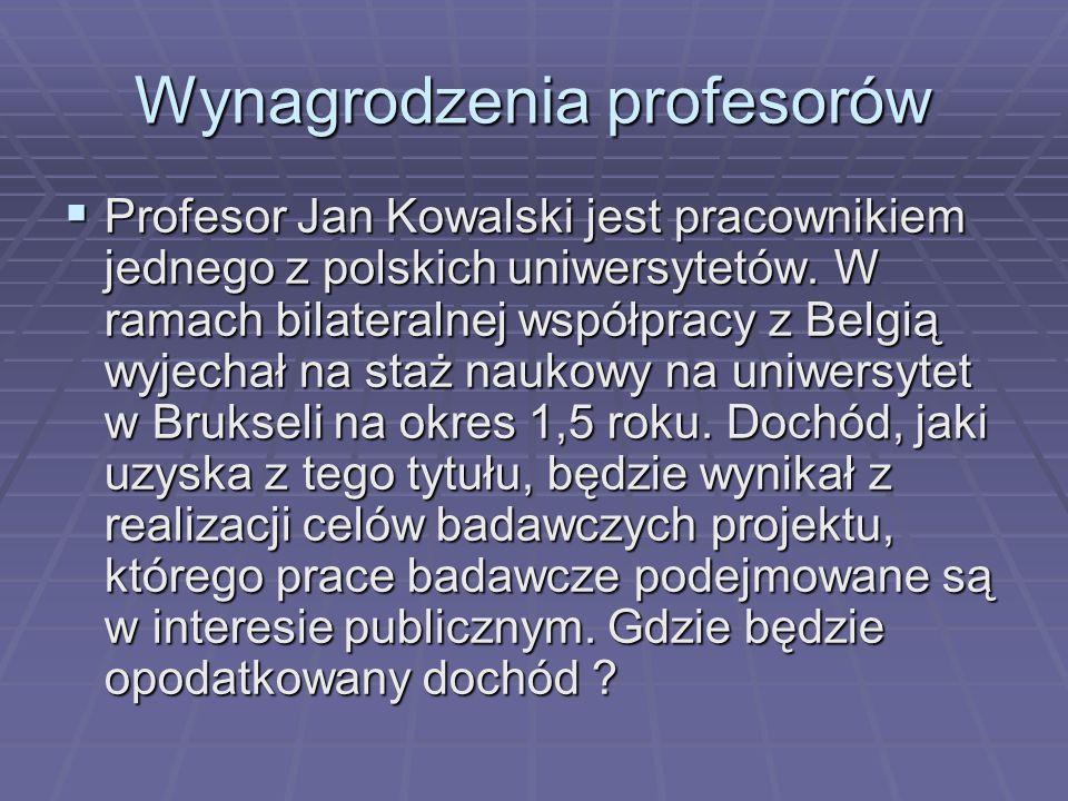 Wynagrodzenia profesorów