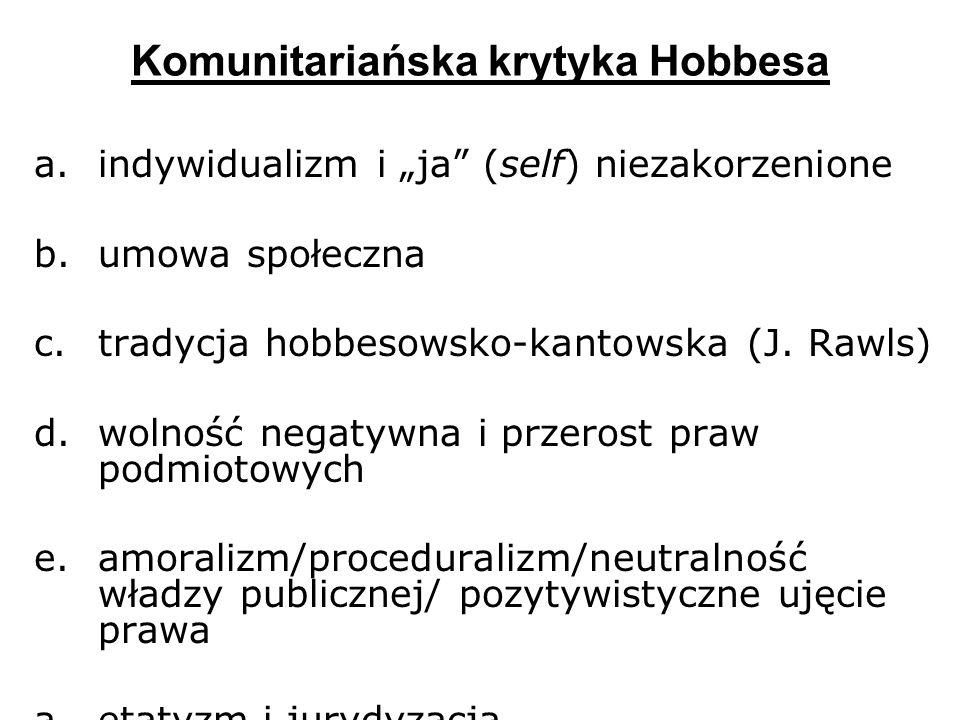 Komunitariańska krytyka Hobbesa