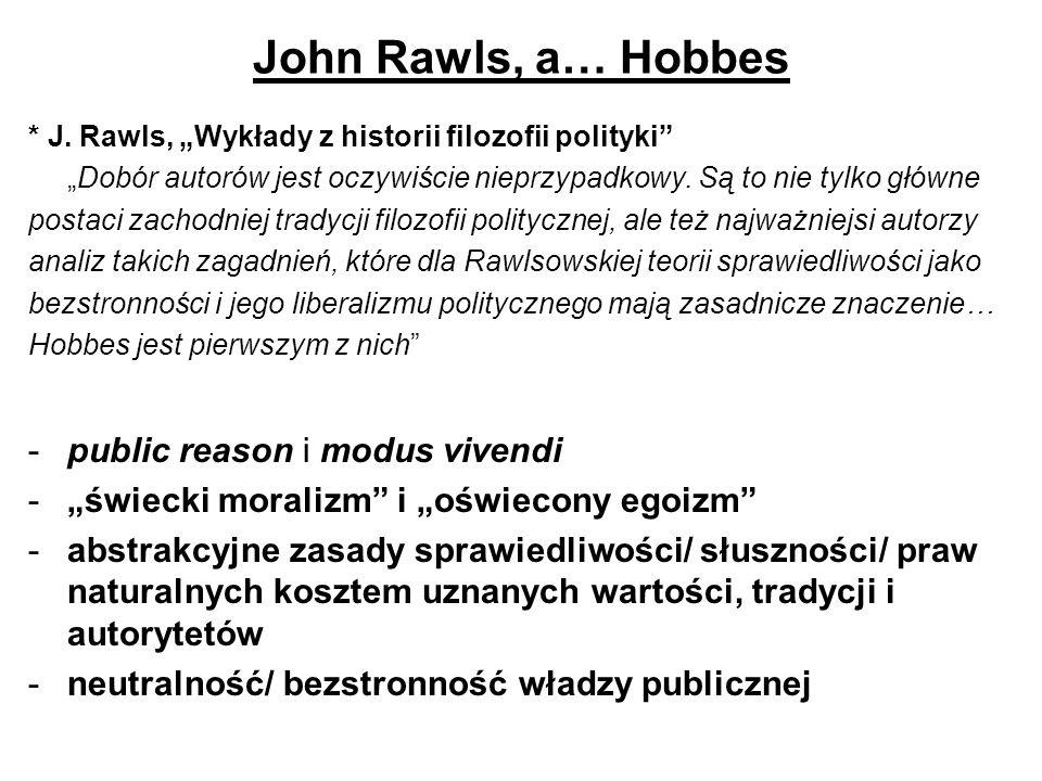 John Rawls, a… Hobbes public reason i modus vivendi