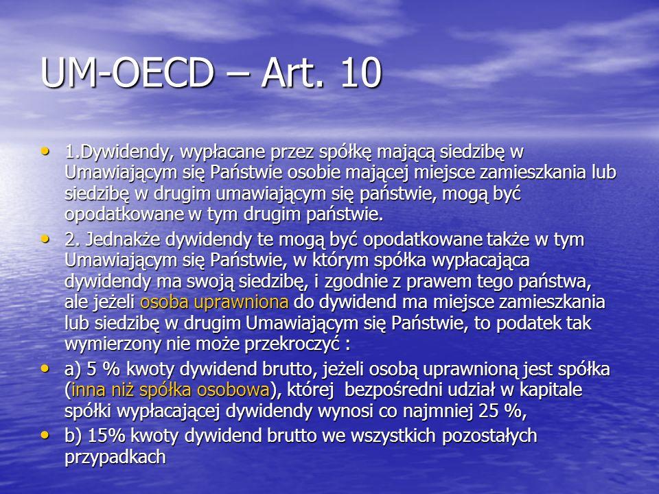 UM-OECD – Art. 10