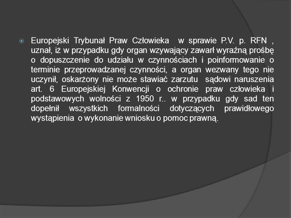 Europejski Trybunał Praw Człowieka w sprawie P. V. p