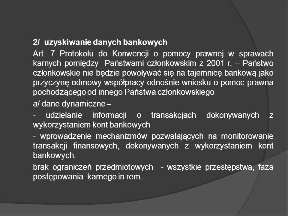 2/ uzyskiwanie danych bankowych