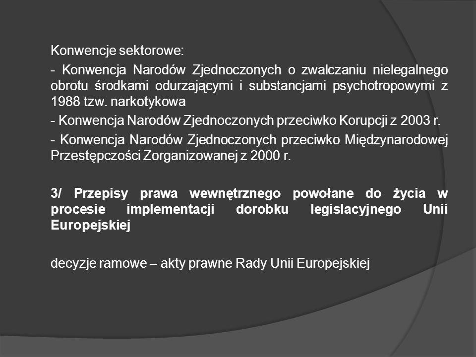 Konwencje sektorowe: