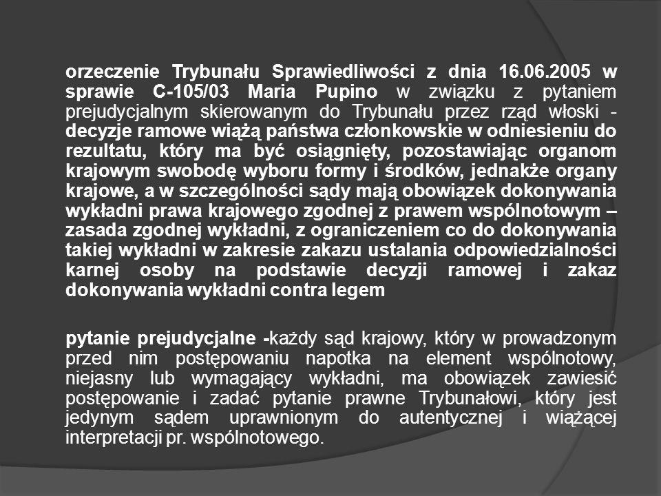 orzeczenie Trybunału Sprawiedliwości z dnia 16. 06