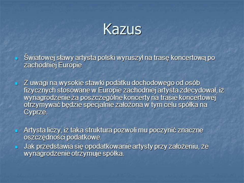 Kazus Światowej sławy artysta polski wyruszył na trasę koncertową po zachodniej Europie.