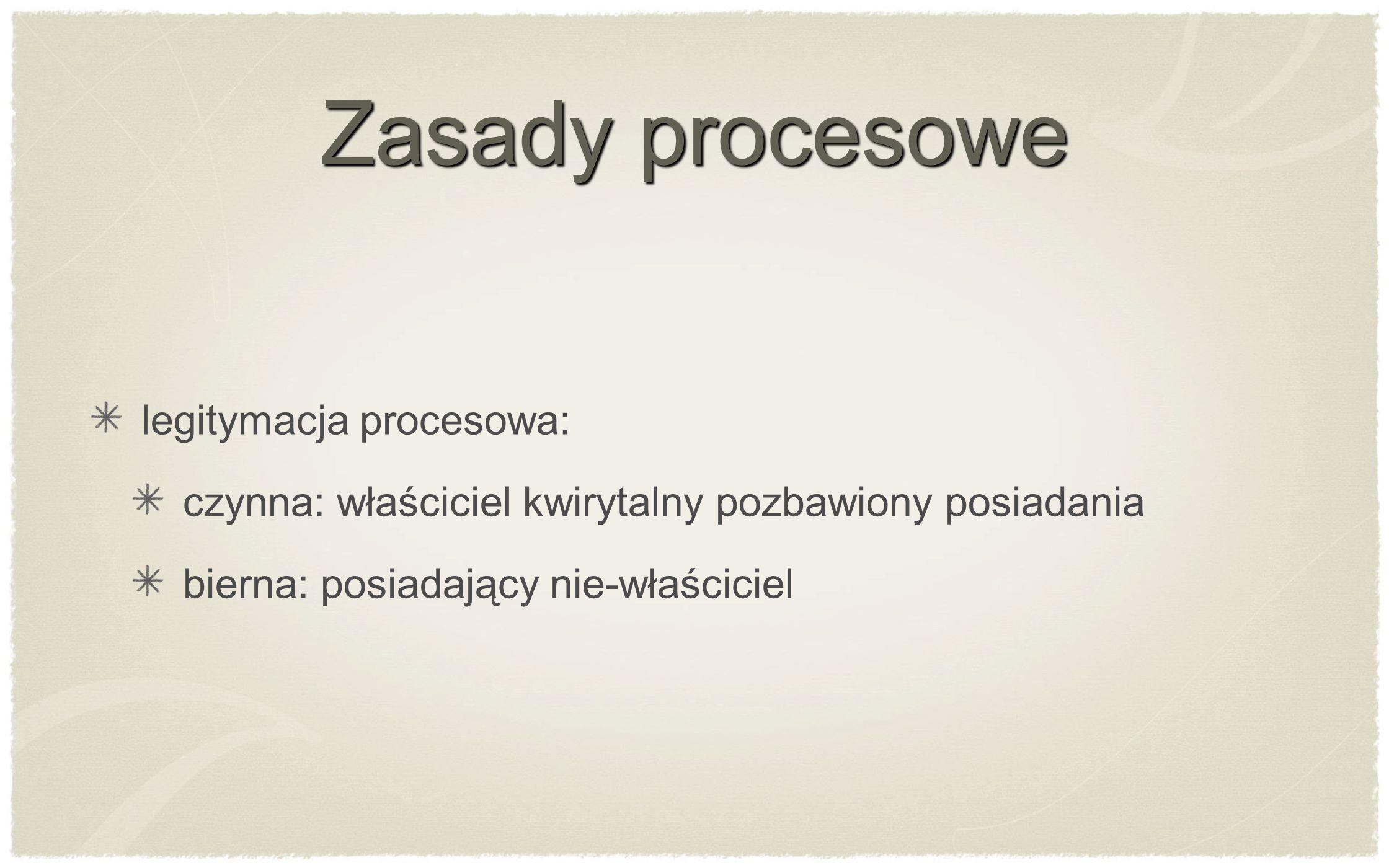 Zasady procesowe legitymacja procesowa: