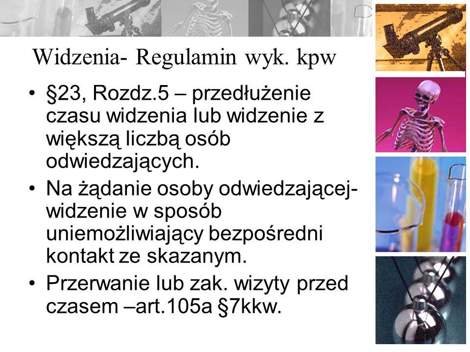 Widzenia- Regulamin wyk. kpw