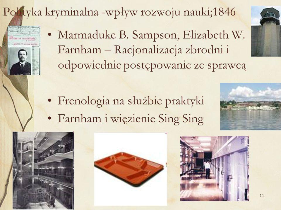 Polityka kryminalna -wpływ rozwoju nauki;1846
