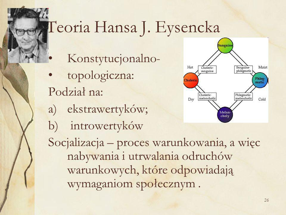 Teoria Hansa J. Eysencka