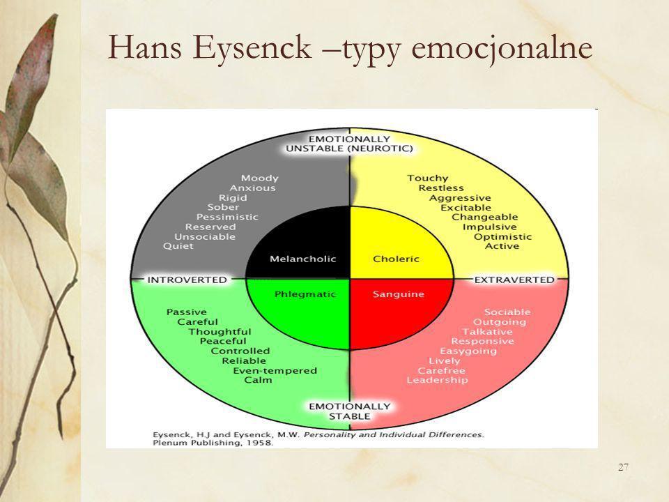 Hans Eysenck –typy emocjonalne