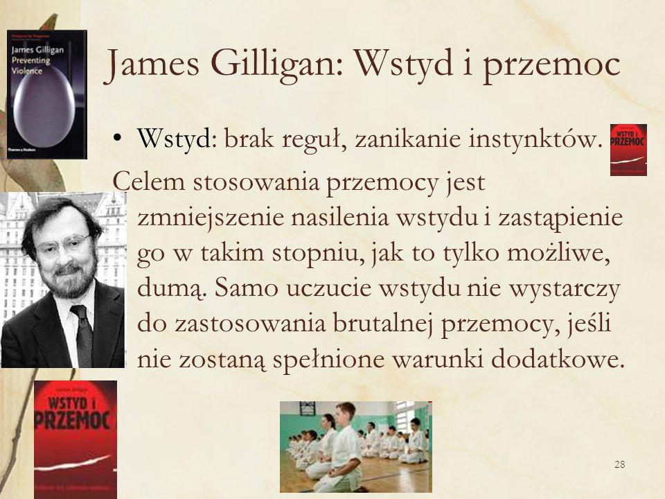 James Gilligan: Wstyd i przemoc