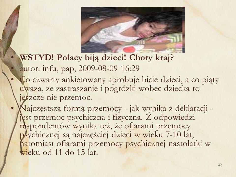 WSTYD! Polacy biją dzieci! Chory kraj