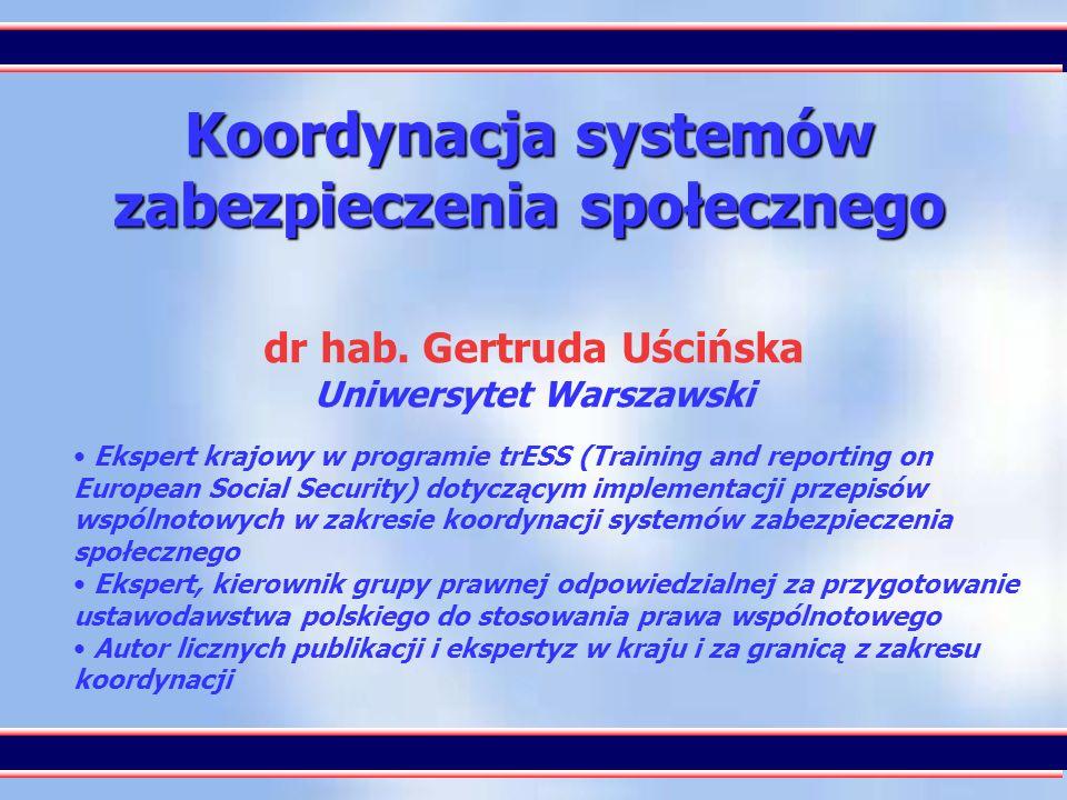 Koordynacja systemów zabezpieczenia społecznego