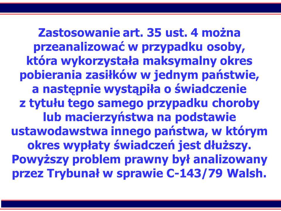 Zastosowanie art. 35 ust.