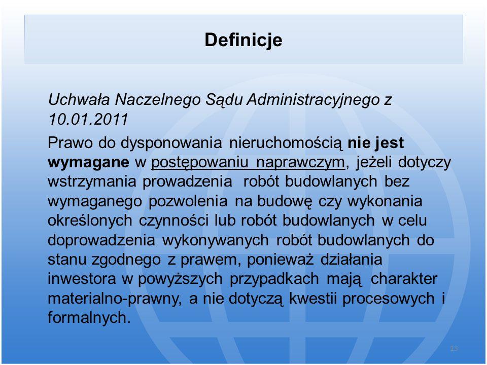 Definicje Uchwała Naczelnego Sądu Administracyjnego z 10.01.2011