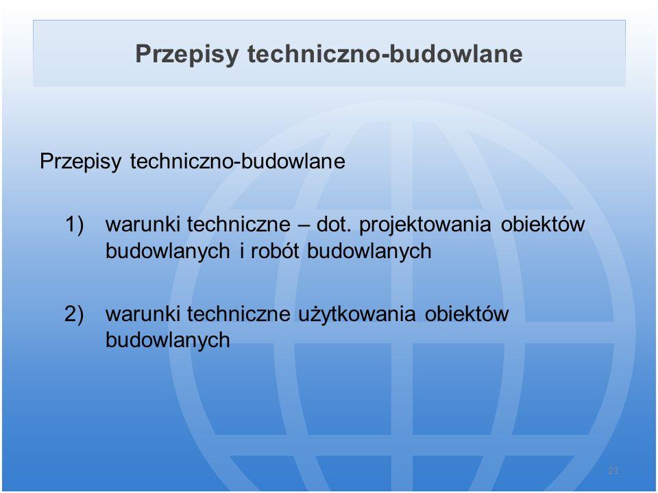 Przepisy techniczno-budowlane