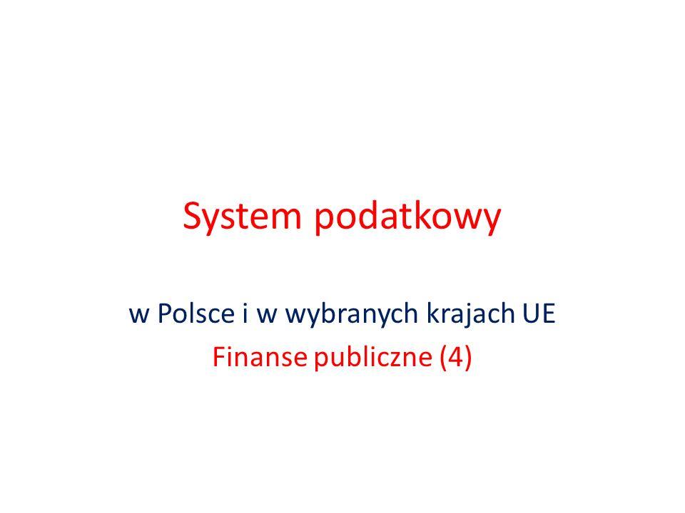 w Polsce i w wybranych krajach UE Finanse publiczne (4)