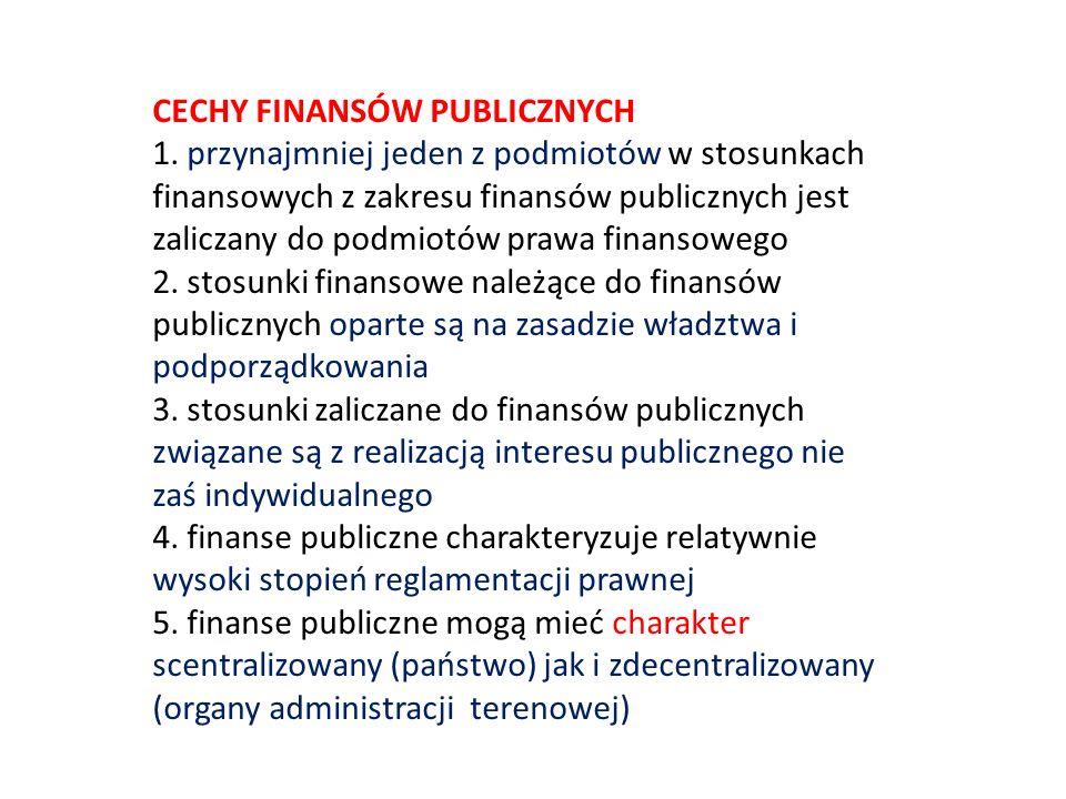 CECHY FINANSÓW PUBLICZNYCH