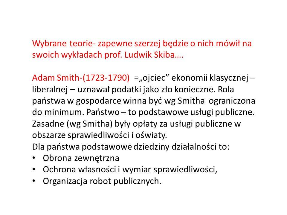 Wybrane teorie- zapewne szerzej będzie o nich mówił na swoich wykładach prof. Ludwik Skiba….