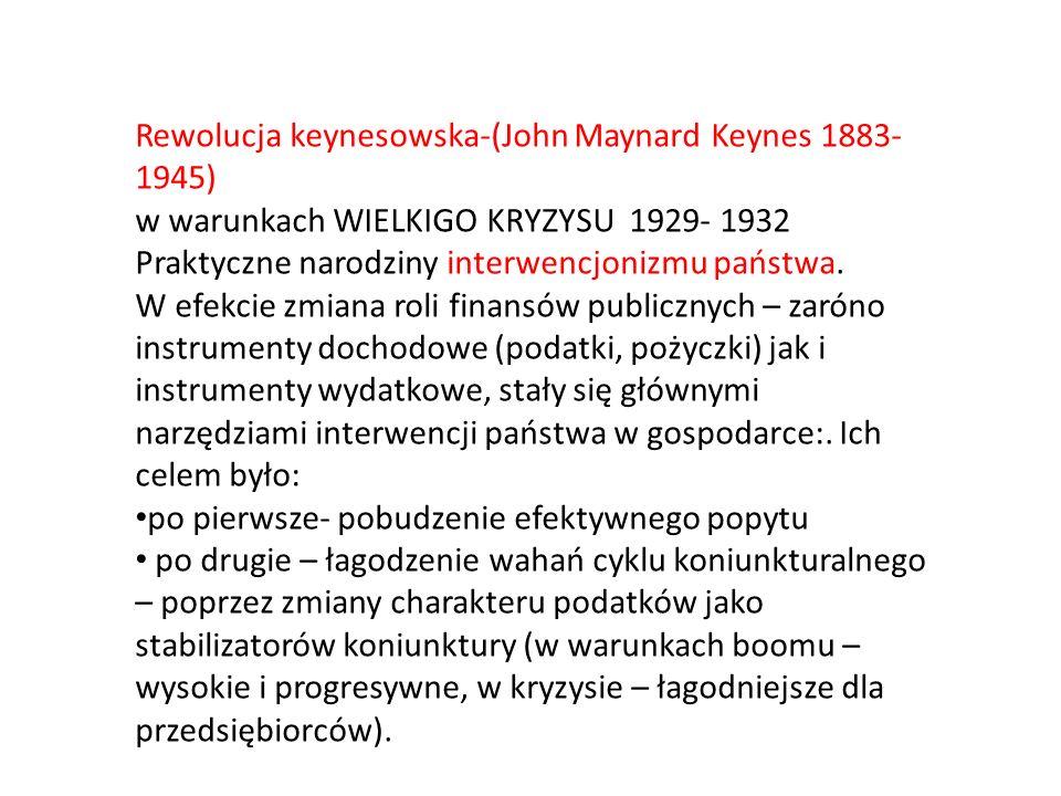 Rewolucja keynesowska-(John Maynard Keynes 1883-1945)