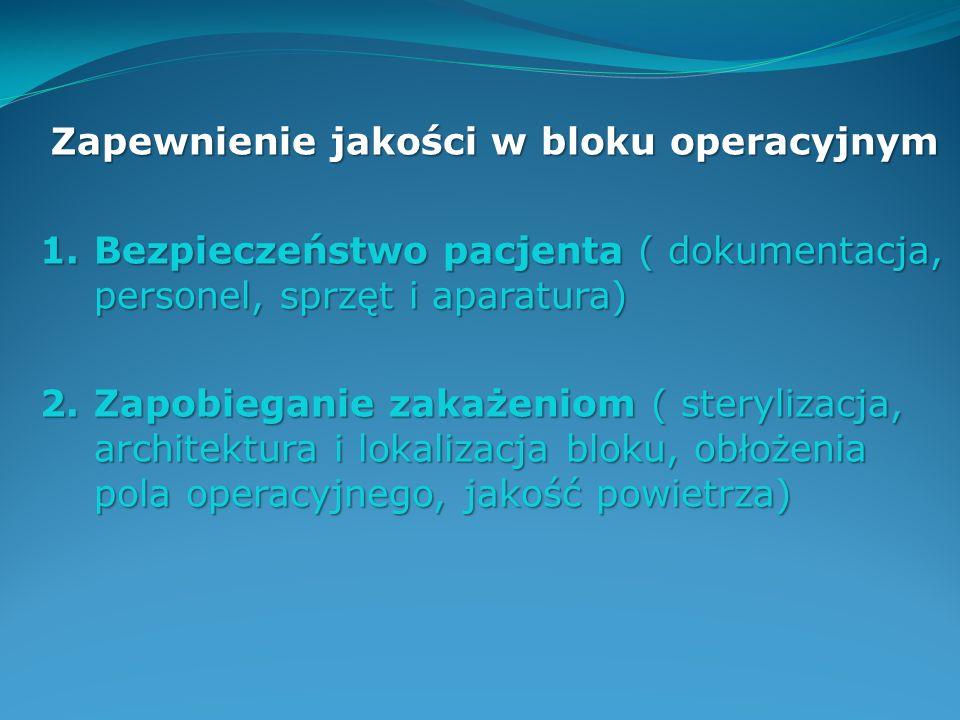 Zapewnienie jakości w bloku operacyjnym