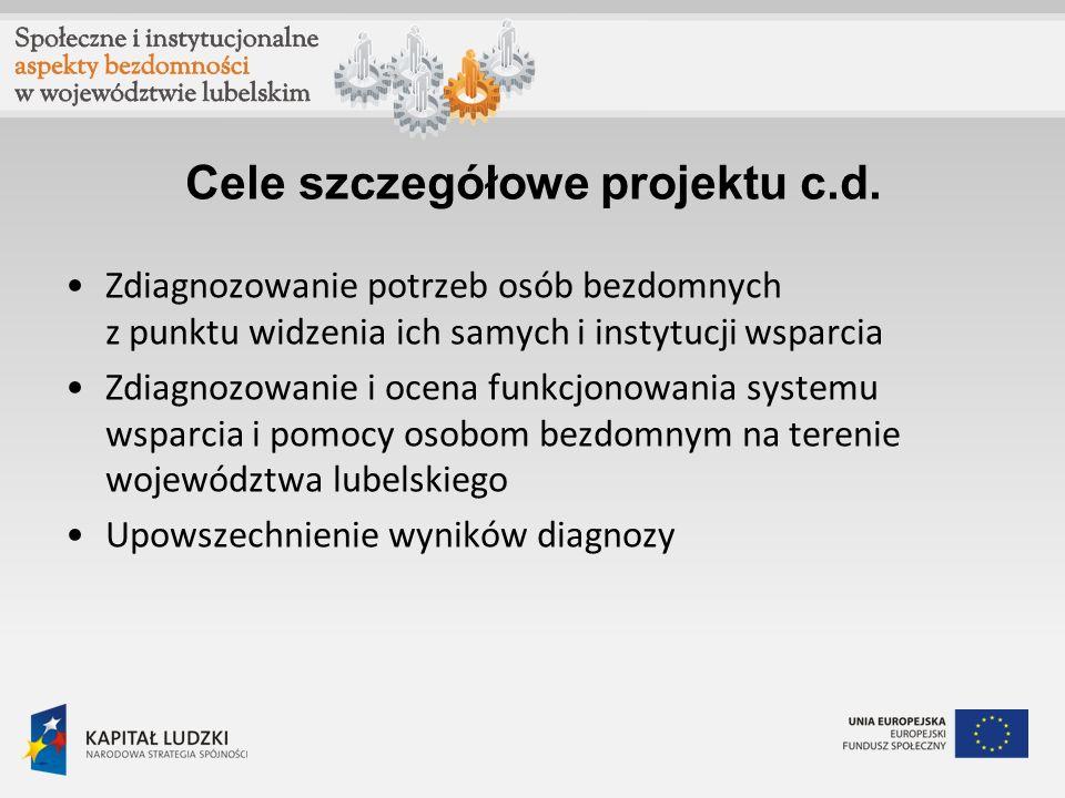 Cele szczegółowe projektu c.d.