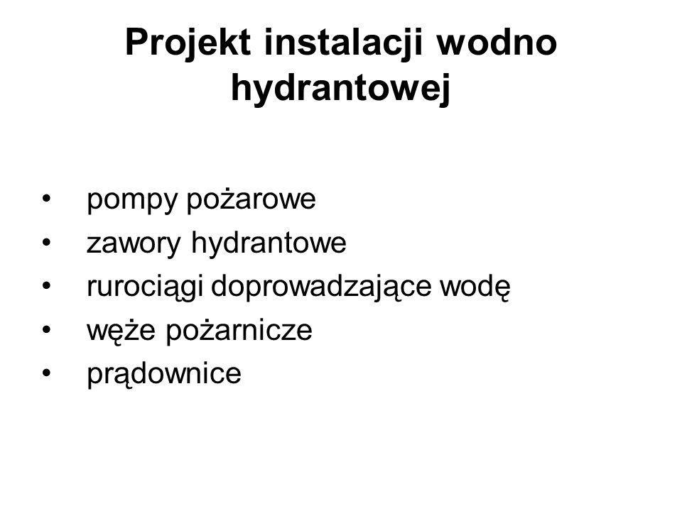 Projekt instalacji wodno hydrantowej