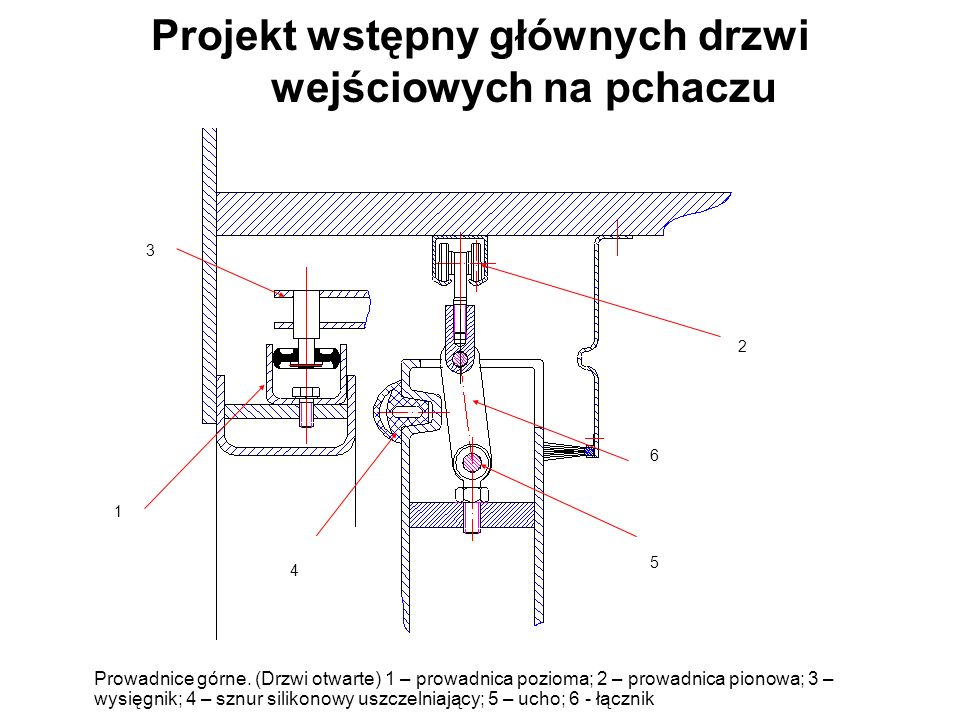 Projekt wstępny głównych drzwi wejściowych na pchaczu