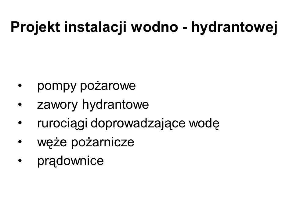 Projekt instalacji wodno - hydrantowej