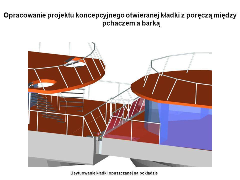 Opracowanie projektu koncepcyjnego otwieranej kładki z poręczą między pchaczem a barką