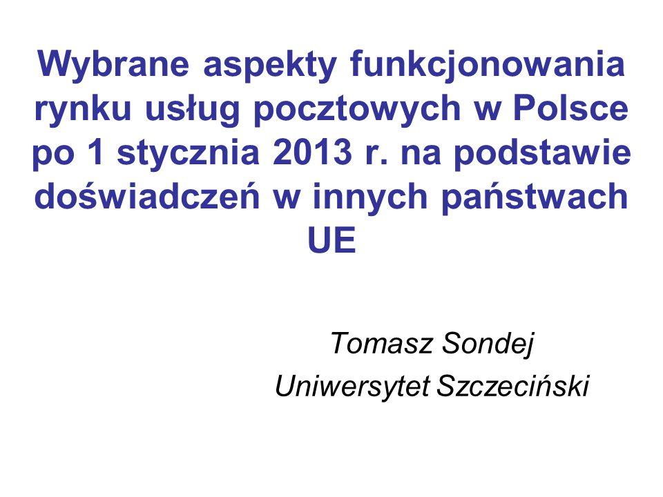 Tomasz Sondej Uniwersytet Szczeciński