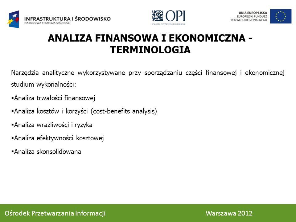 ANALIZA FINANSOWA I EKONOMICZNA - TERMINOLOGIA