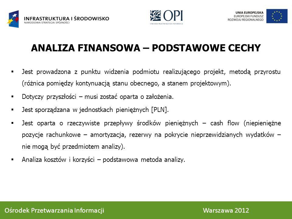 ANALIZA FINANSOWA – PODSTAWOWE CECHY