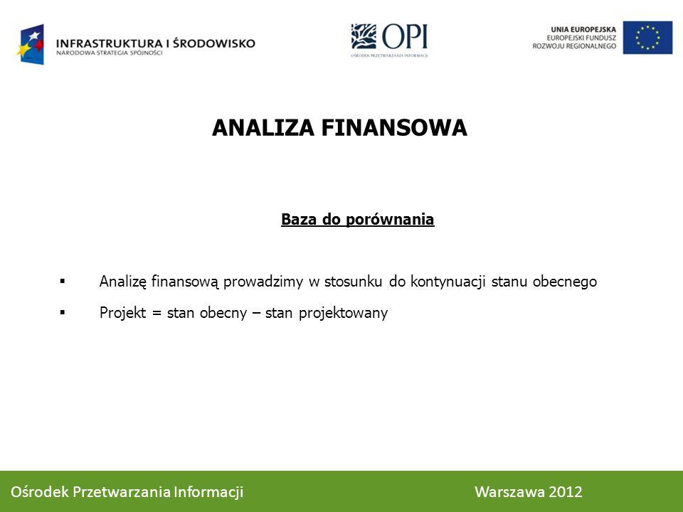 ANALIZA FINANSOWA Ośrodek Przetwarzania Informacji Warszawa 2012