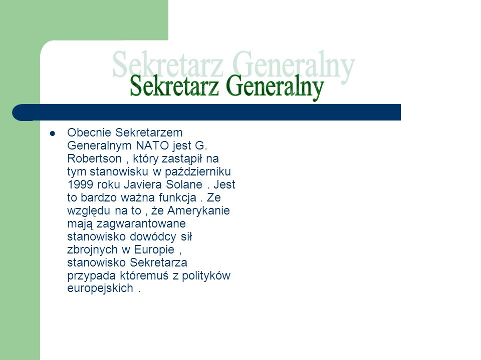 Sekretarz Generalny