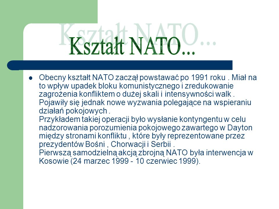 Kształt NATO...