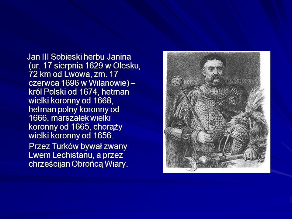 Jan III Sobieski herbu Janina (ur