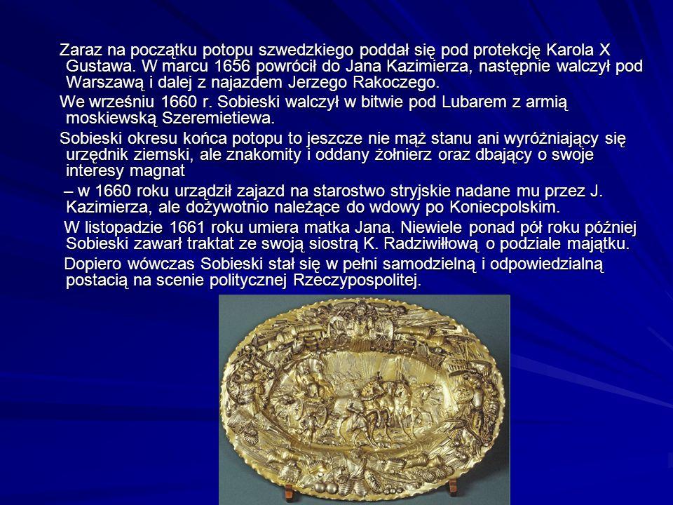Zaraz na początku potopu szwedzkiego poddał się pod protekcję Karola X Gustawa. W marcu 1656 powrócił do Jana Kazimierza, następnie walczył pod Warszawą i dalej z najazdem Jerzego Rakoczego.
