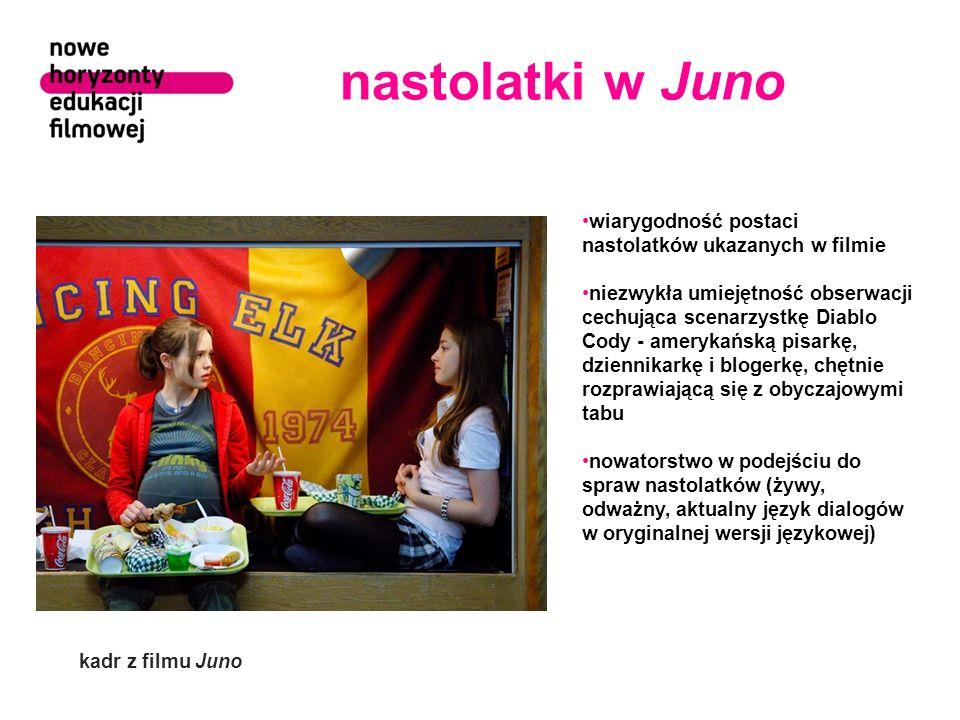 nastolatki w Juno wiarygodność postaci nastolatków ukazanych w filmie