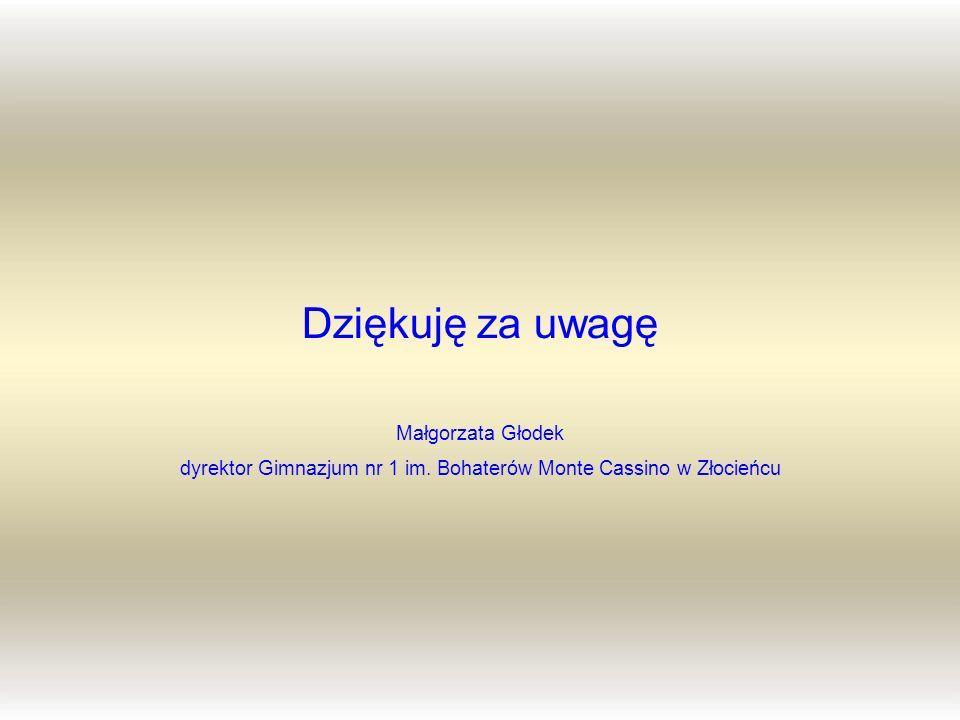 dyrektor Gimnazjum nr 1 im. Bohaterów Monte Cassino w Złocieńcu