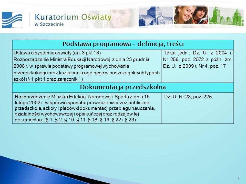 Podstawa programowa – definicja, treści Dokumentacja przedszkolna