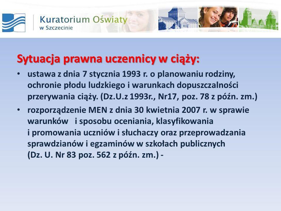 Sytuacja prawna uczennicy w ciąży: