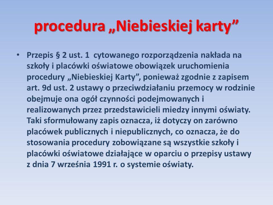"""procedura """"Niebieskiej karty"""