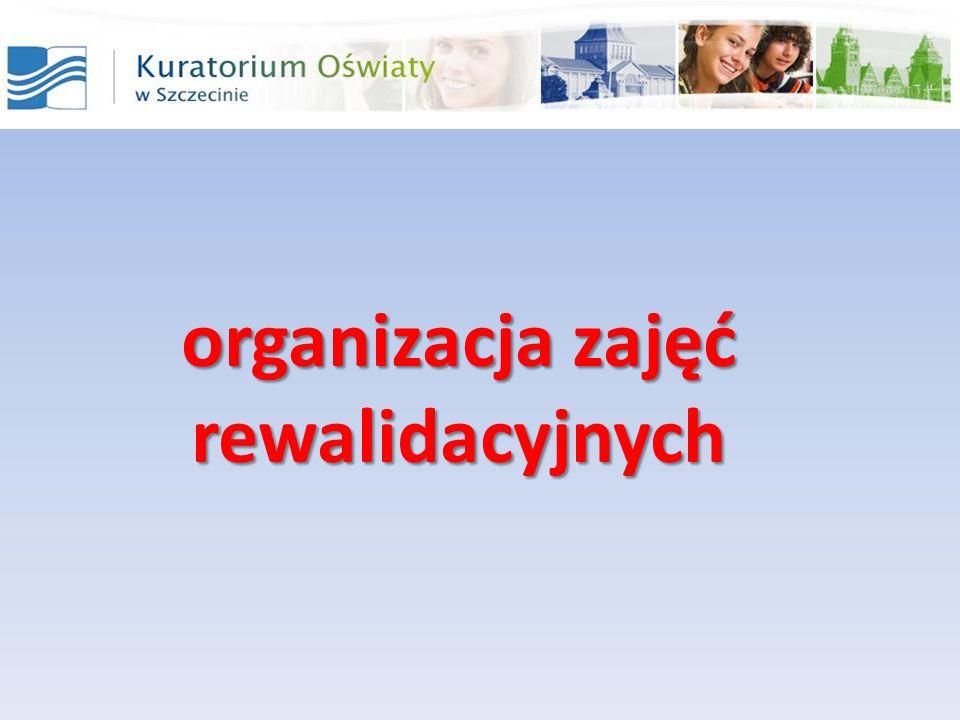 organizacja zajęć rewalidacyjnych