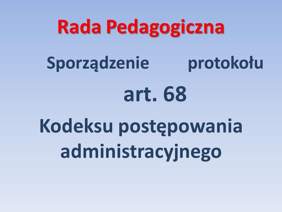 Kodeksu postępowania administracyjnego