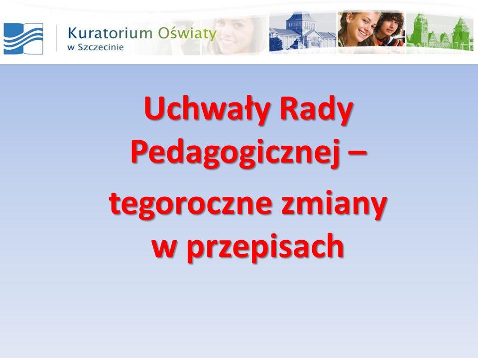 Uchwały Rady Pedagogicznej – tegoroczne zmiany w przepisach