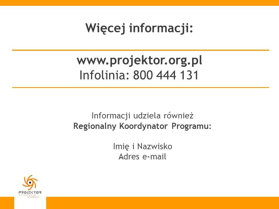 Regionalny Koordynator Programu: